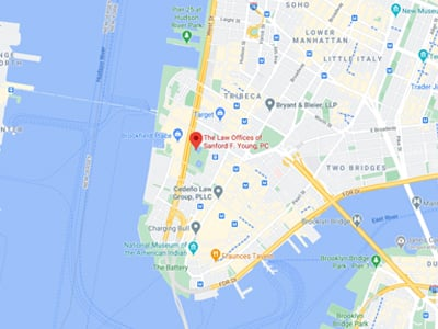 Map of New York office location